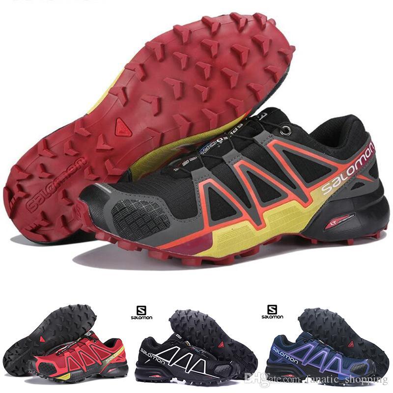 40b57652fee00 2019 Salomon Speed Cross 4 CS Mens Women Hiking Shoes SpeedCross 4s Black  Purple Orange Blue Outdoor Sports Sneakers 36 46 Wholesale Drop Ship From  ...