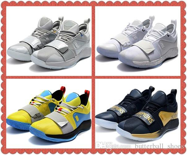 5ad1e5f46 2018 New Paul George 2.5 Optic Yellow Mens Casual Shoes PlayStation x PG  Wolf Grey Champion Black Men Desigenr Sneakers With Box Formal Shoes For Men  Work ...