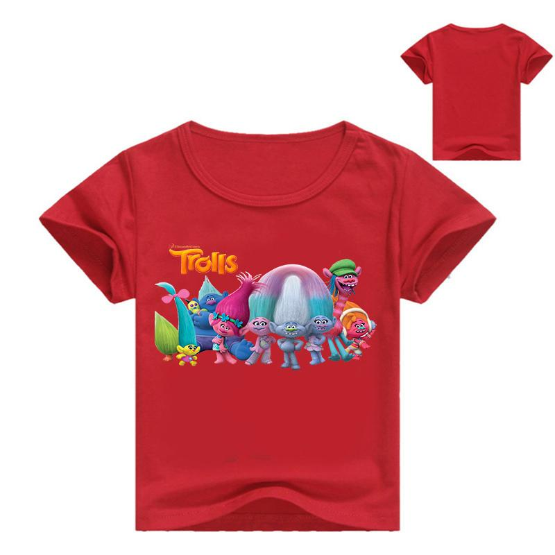 d3280d804 2019 Children S Summer Active Tees Fashion Cartoon Trolls Print ...