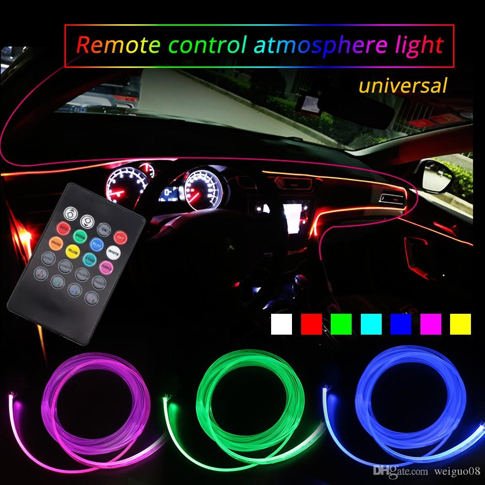 Led Per Auto Tuning.Ambient Lights Led Atmosphere Lamp Rgb 8 Colors For Car Tuning Interior Music Sound Light Car Decoration Refit Optic Fiber Band