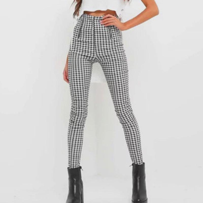 557e6d9f2a Compre 2019 Pantalones A Cuadros De Otoño Pantalón De Chándal De Mujer  Franja De Raya Cremallera Pantalones De Algodón Cómodos Cómodos A  30.6 Del  ...