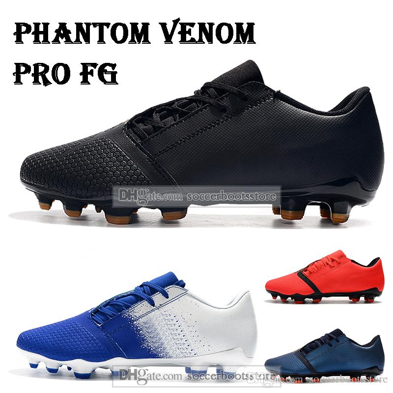 New Mens Low Ankle Football Boots Phantom Venom Pro FG Soccer Shoes Phantom VNM FG Outdoor Soccer Cleats