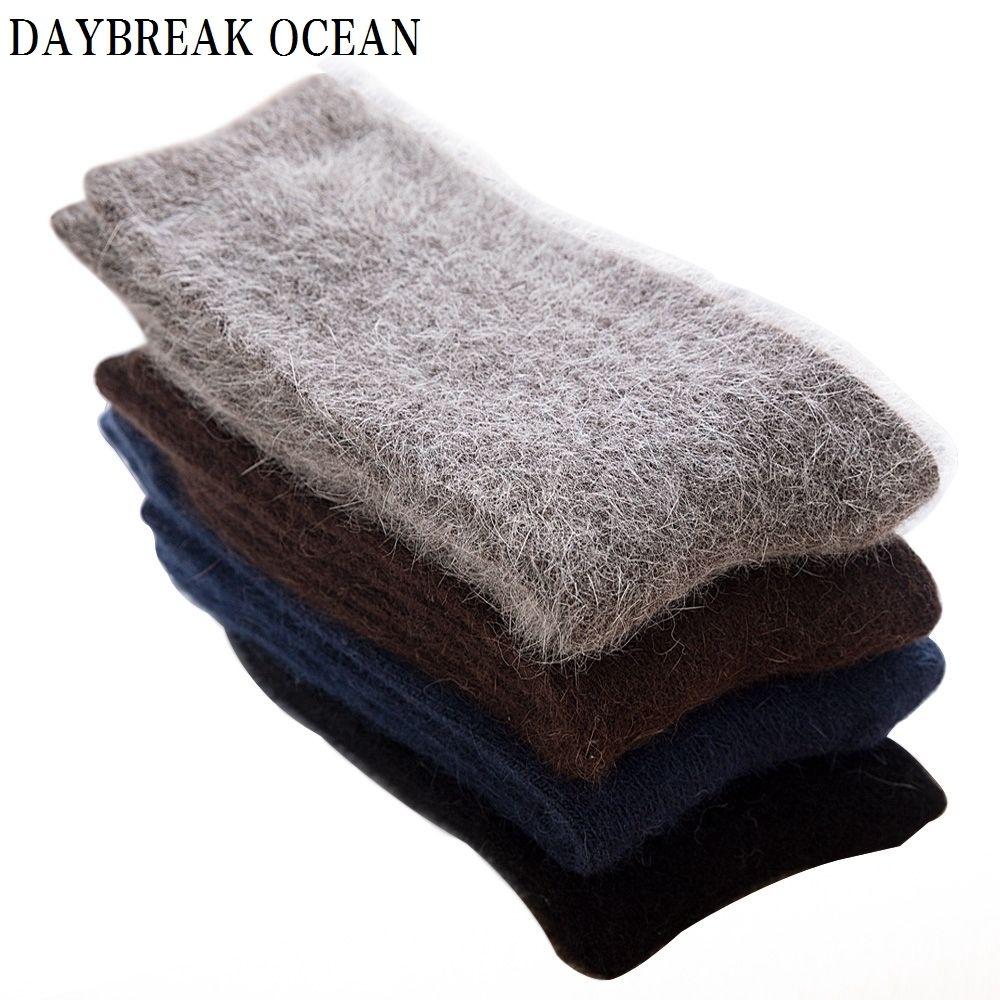 b48c303bdc45f 2019 High Quality Super Soft Angora Cashmere Rabbit Wool Socks Thick Warm  Merino Men Socks 2018 Big Size Winter Socks For MenQ190401 From Tai002, ...