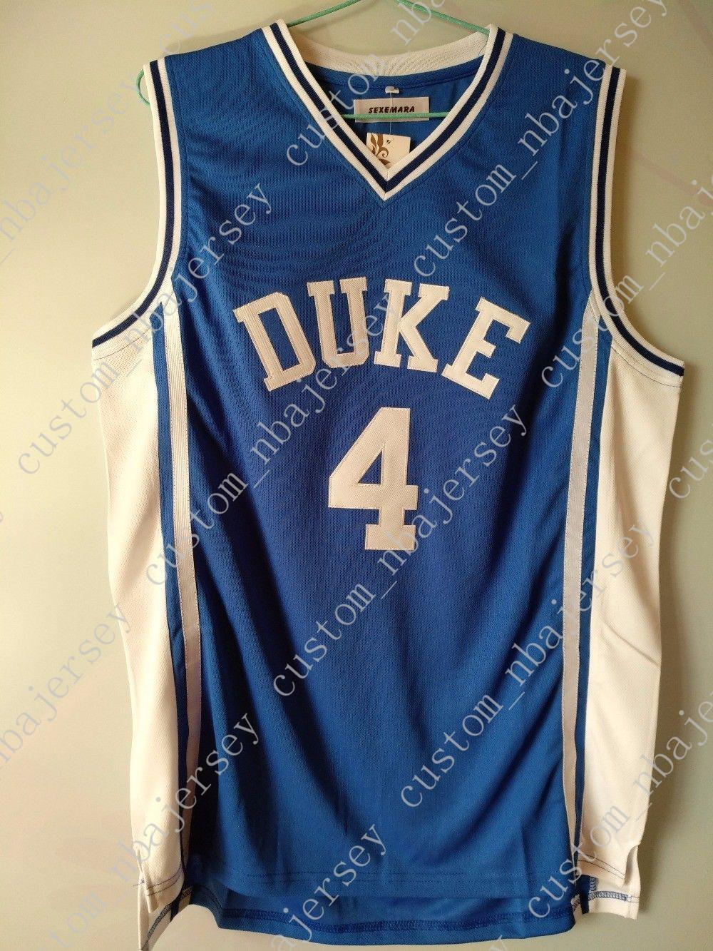 newest fa48d 1cbc0 Cheap custom #4 J.J Redick JJ Duke Blue Basketball Jerseys Stitched  Customize any name number MEN WOMEN YOUTH JERSEY XS-5XL