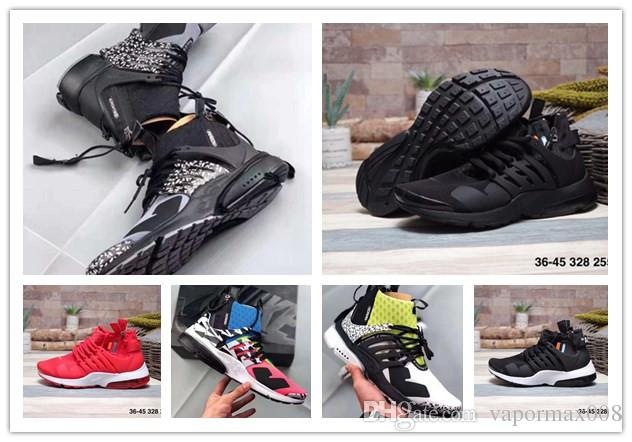 2019 Presto High-quality Acronym Air MID White Black Hot Lava running shoes  for men sports shoes size 39-46