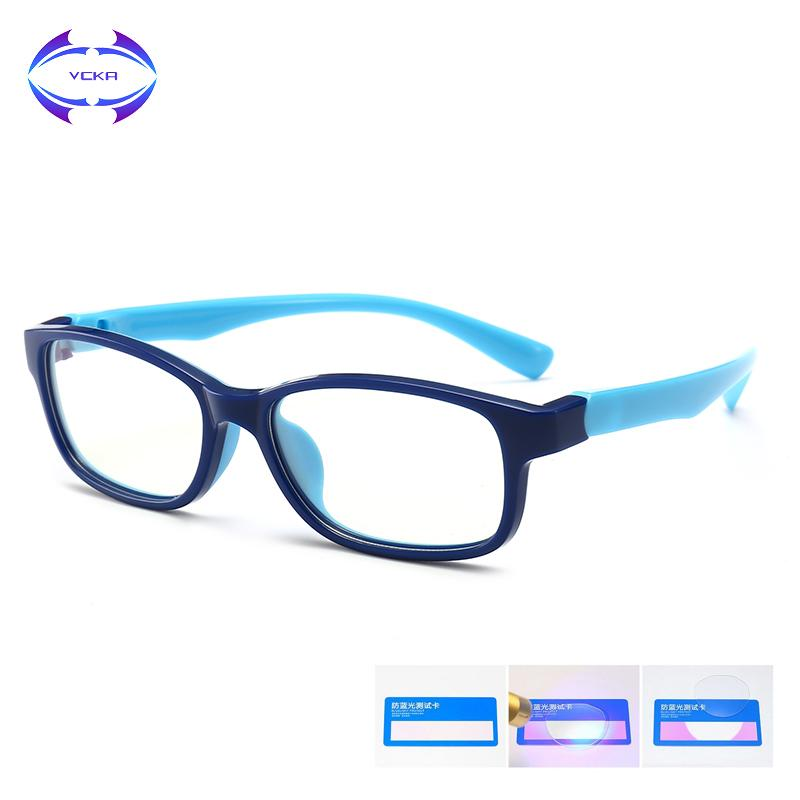 VCKA Kids Anti-blue light Glasses Frame Girl Game Protective Goggle Boy Silicone Children Ultralight Eyewear TR90 Computer