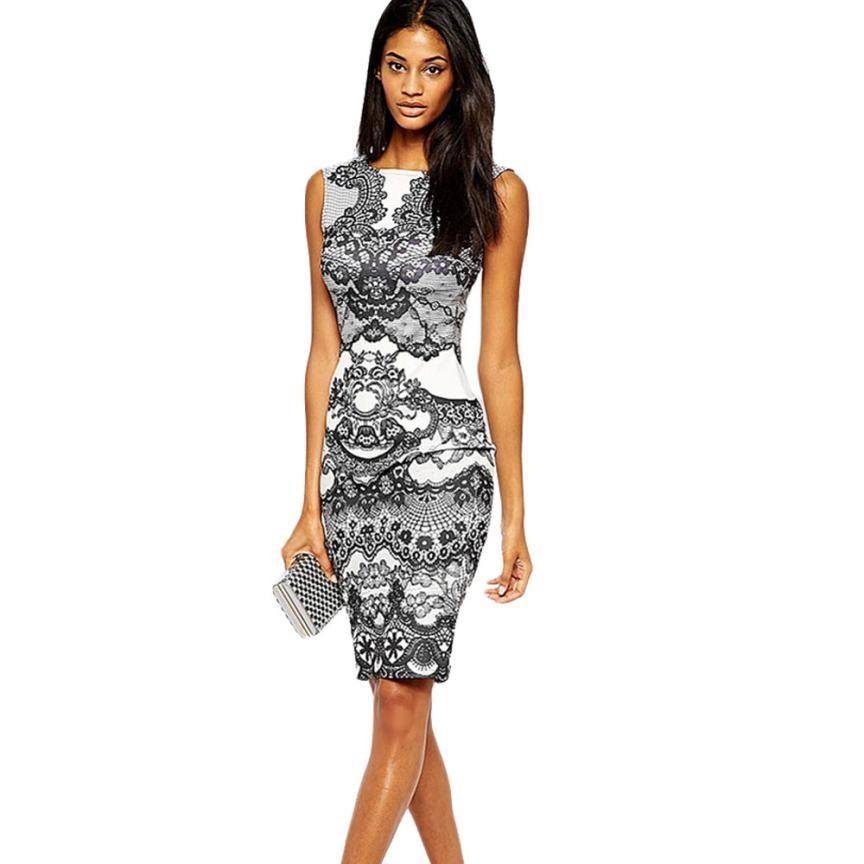 c432fd7ce874 2019 Womens Summer Dresses 2017 Dresses Vintage Floral Print Dresse ...