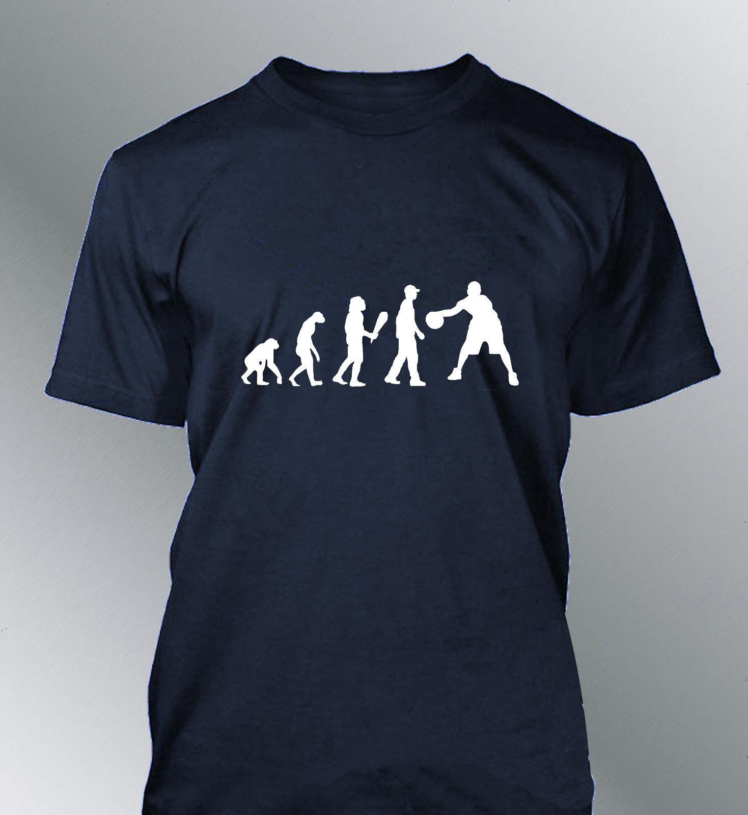 571851f5791c Tee Shirt Personnalise Homme Evolution BASKET L XL Humour Human Sport  Basketball Funny Unisex Casual Tshirt Top Super Cool T Shirts And T Shirts  From ...