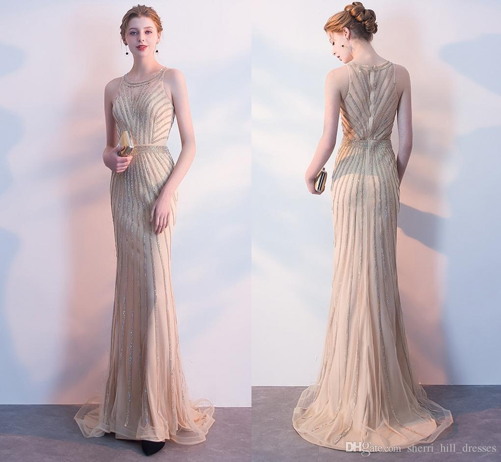 5fecd90d New Sexy High Fashion Mermaid Champagne Long Evening Dresses Fishtail  Fishtail Ball Party Prom Dresses DH63 Cream Evening Dress Evening Dress  Cheap From ...