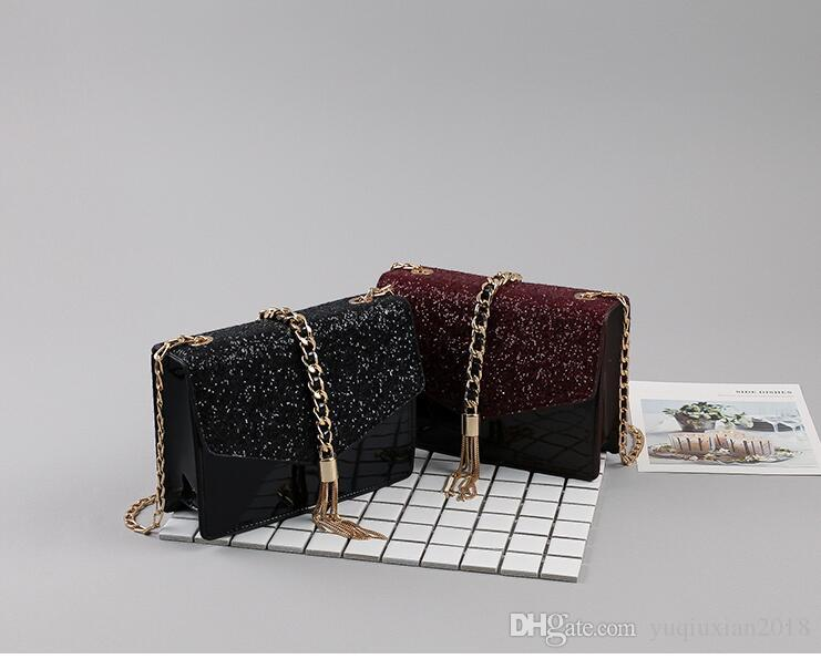 4ca5f025b7eb New Brand Designer Fashion Women S Luxury Bag Fashion Simple Nightclub One  Shoulder Sequin Crossbody Bag Ladies PU Leather Handbag Brand Wil Over The  ...