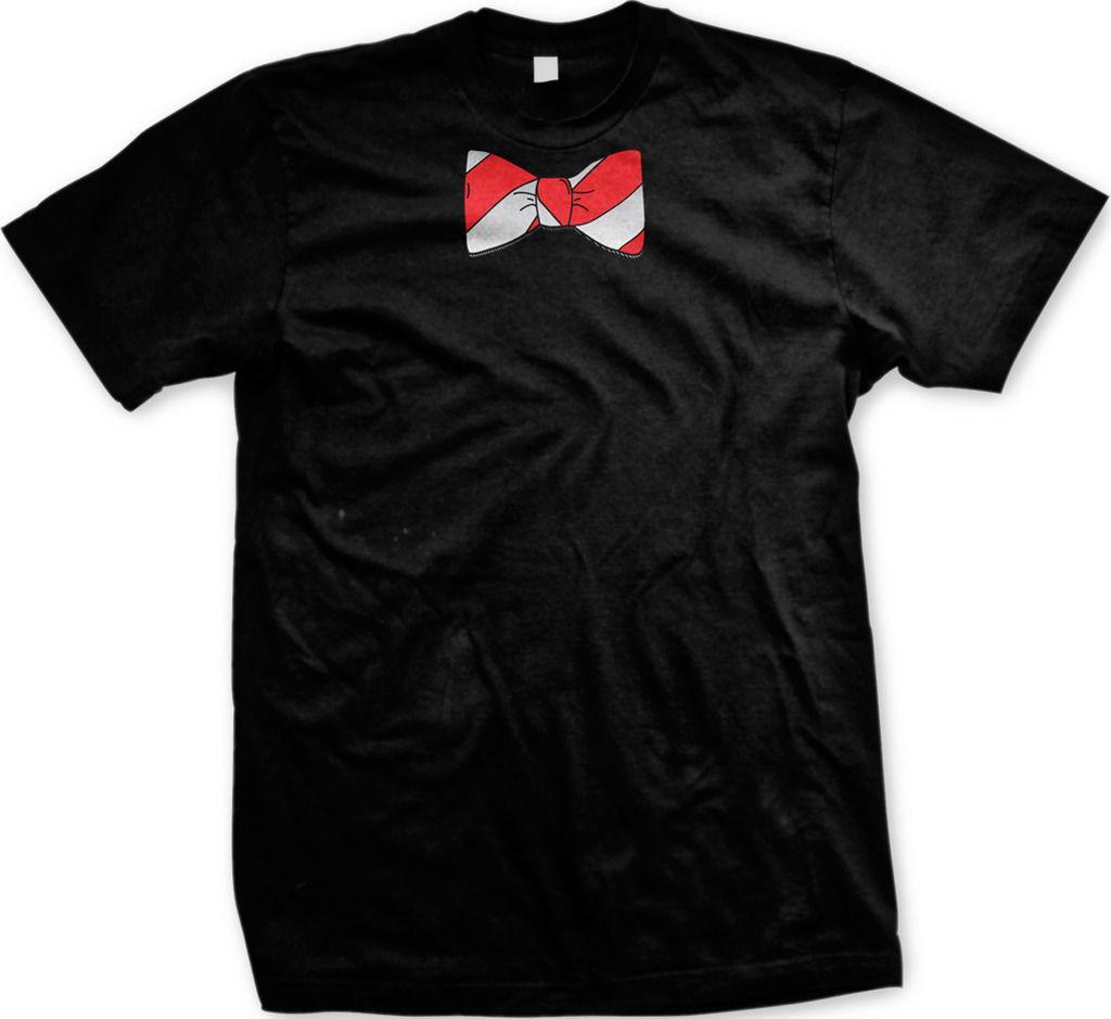 6fd35d8d6d5c7 Acheter Cravate À Pois Rayé Blanc Rouge Cadeau Nerd Gag Funny Dress Up  Costume T Shirt Pour Hommes De Style Hip Hop Tops Tee Shirt Casual Man  Summer Top Tee ...