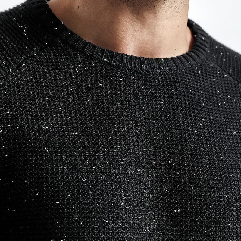 e7b75520f4fa0 2019 Sweater Men Autumn Winter New Slim Fit Fashion Zipper Knitted  Pullovers White Dot High Quality Plus Size From Losangelesd