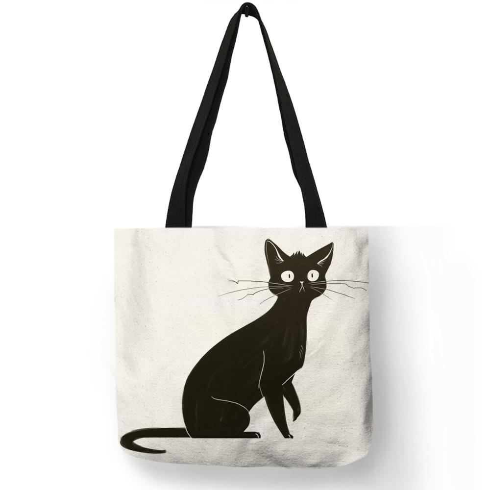 Designer Personalized Watercolor Cat Art Print Tote Bags For Linen Shopping  Bag Folding Reusable Fabric Handbags For Women Womens Bags Wholesale Bags  From ... 76a87c6793