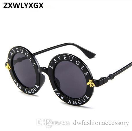 3fc7d9be9ae 2019 New Sunglasses Small Bees Round Frame Sunglasses Men And Women Fashion  Glasses Trend Sunglasses UV400 Sunglasses At Night Lyrics Glasses For Men  From ...