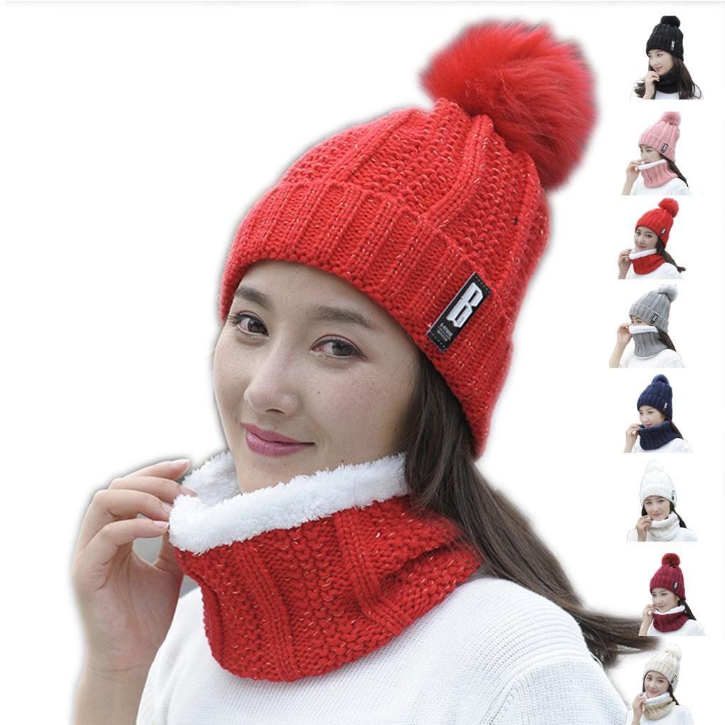 Men Women Knitting Wool Beanie Hat Knitted Cap Round Ball Braided Warm  Thick Winter Head Accessory Beanies For Girls Baby Hat From Fashionkiss 7cf45bed088