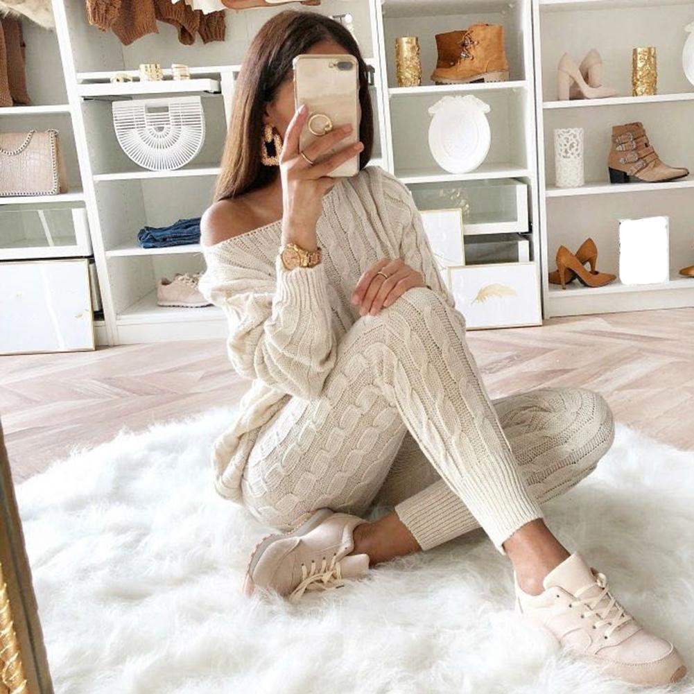 YJSFG HOUSE Womens Sweaters Sets Jumpsuit Knitted Top Long Pants Ladies  Winter Warm Suits Outfits Bodycon Casual Playsuit C18121701 UK 2019 From  Lizhang03 0018323a9