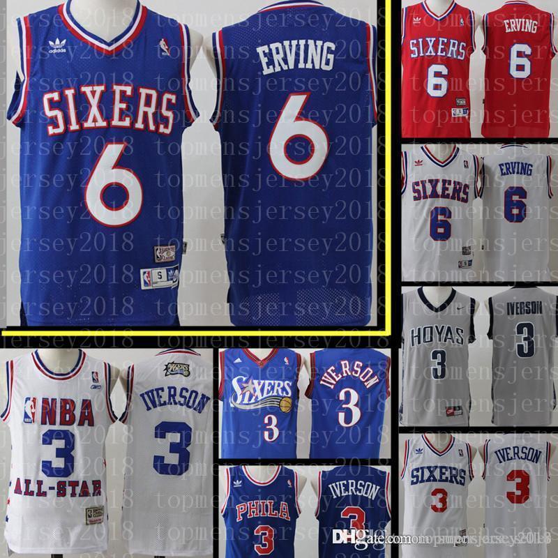 9a1eed55faf5 2019 76ers Julius 6 Erving Jersey Retro Philadelphia 76er Basketball ...