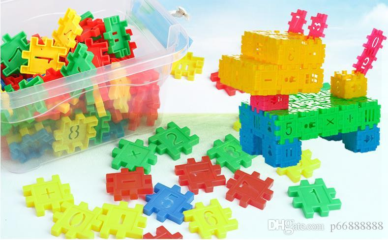 Plastic snowflake patchwork building blocks for toddlers, children's toys, puzzle toys, 3-12 years old granular geometric tube building bloc