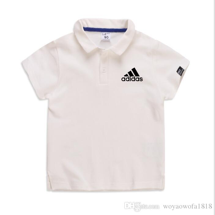 Fat boy summer new big boy plus fat large size loose cotton short sleeves have a collar small fat POLO shirt 2-7T