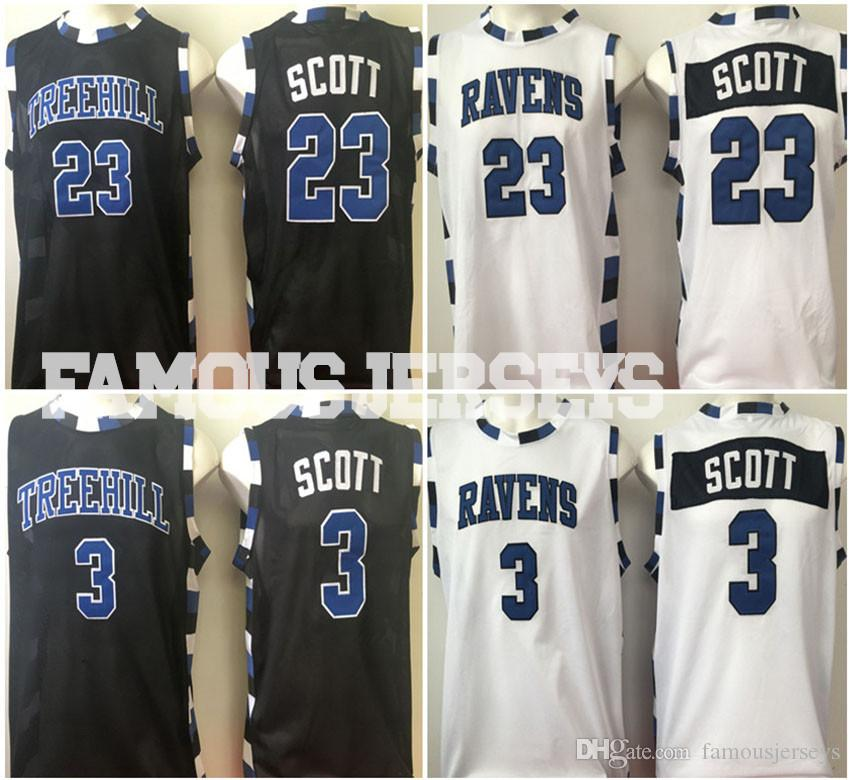 83132d59710b 2019 New Movie Basketball Jerseys One Tree Hill Ravens Nathan Scott Lucas Scott  Basketball Jerseys Player Game Uniform Black White Jerseys From ...