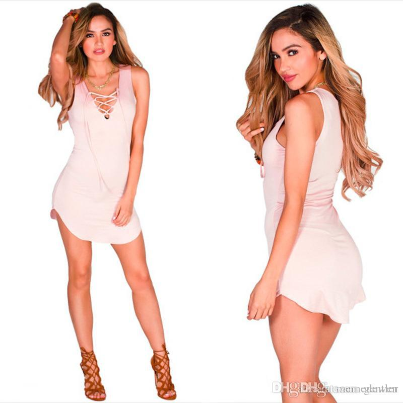 White Chest Cross Mini Dress