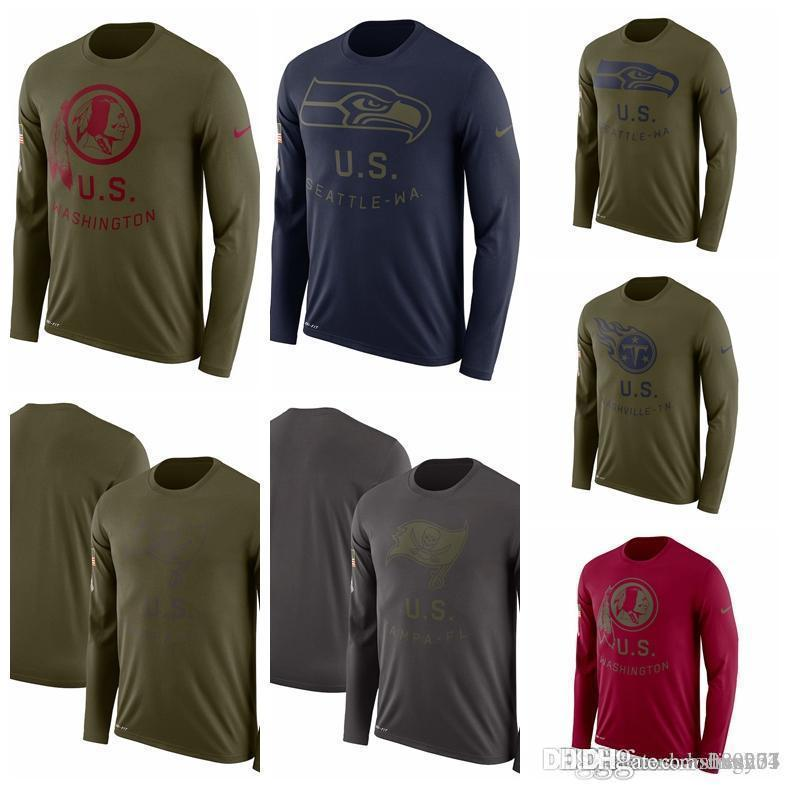 new arrival b8b01 92205 Seattle Seahawks Tampa Bay Buccaneers Titans Washington Redskins Salute to  Service Sideline Legend Performance Long Sleeve T-Shirt