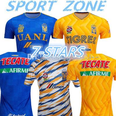2019 2020 Tigres UANL soccer jersey 19 20 Mexico club Tigers 7 Stars GIGNAC Vargas H. Ayala SOSA away blue kits football shirts