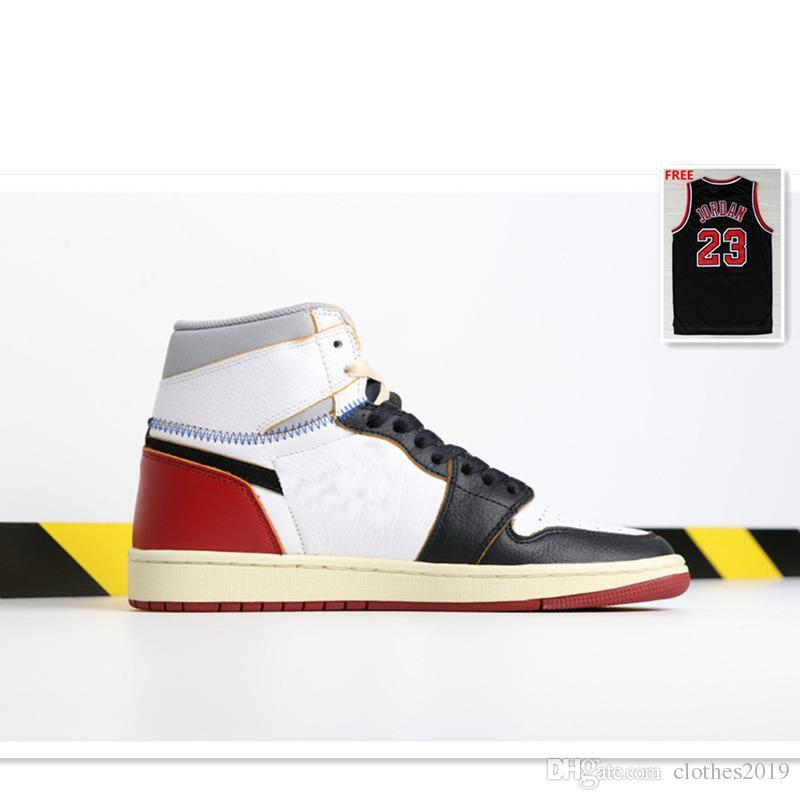 8172458e6736 Newest 1s Men Women Basketball Shoes Union X 1 High OG NRG White Red ...