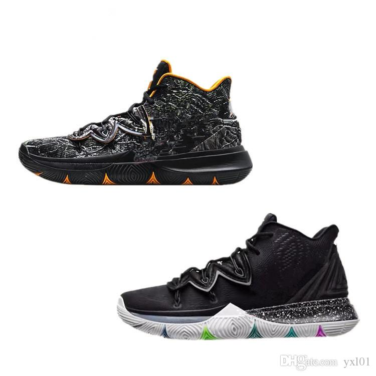 buy popular 92394 3d378 2018 New Kyrie5 V Irving 5 Low Taco Black Magic Multicolor Basketball Shoes  For High Quality 5s Trainers Mens Sports Sneakers Size 40 46 Basketball  Shoes ...