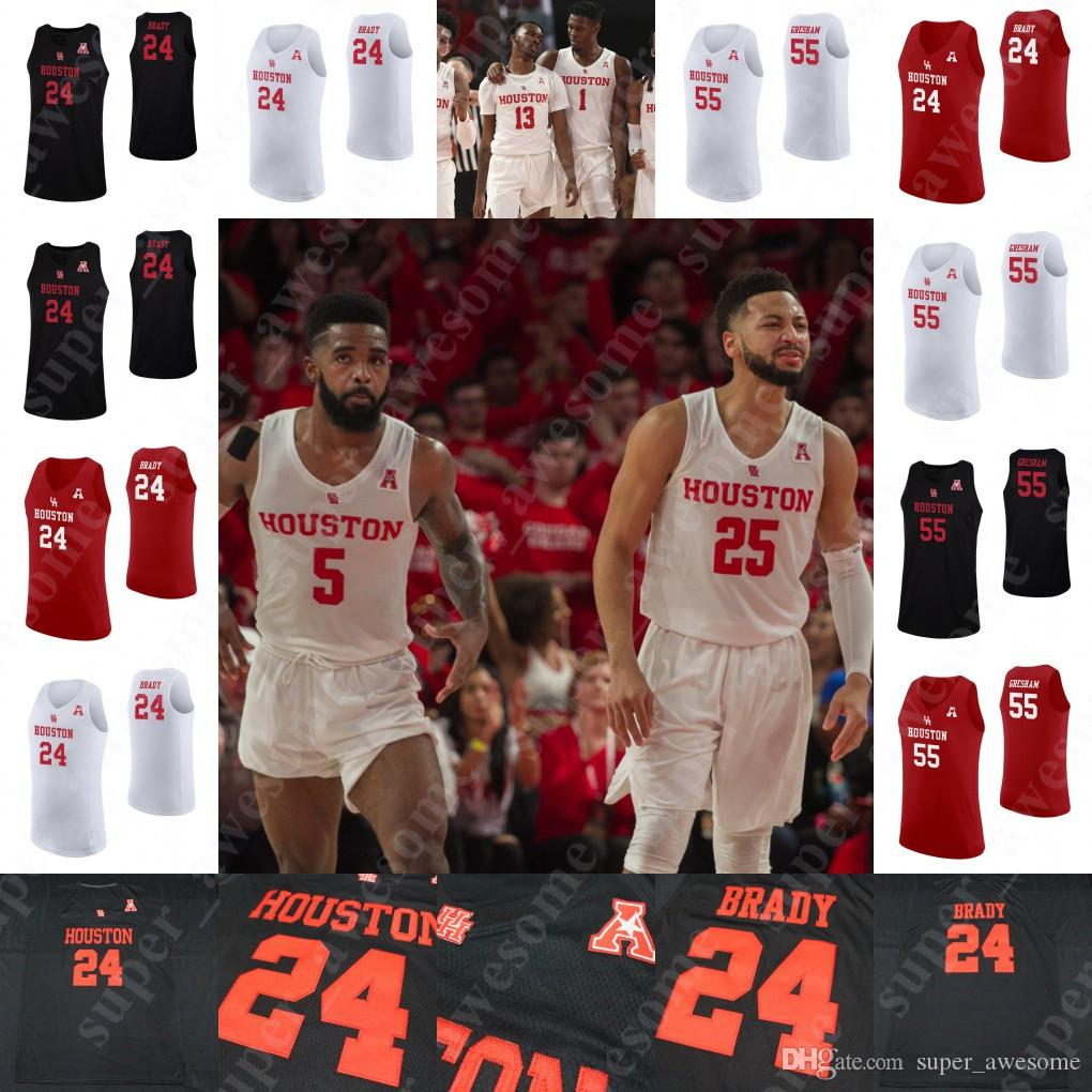 separation shoes 87cf0 c6149 NCAA Houston Cougars Basketball Jerseys Corey Davis Jr. Armoni Brooks Dejon  Jarreau Galen Robinson Jr. Nate Hinton Breaon Brady Young Jersey