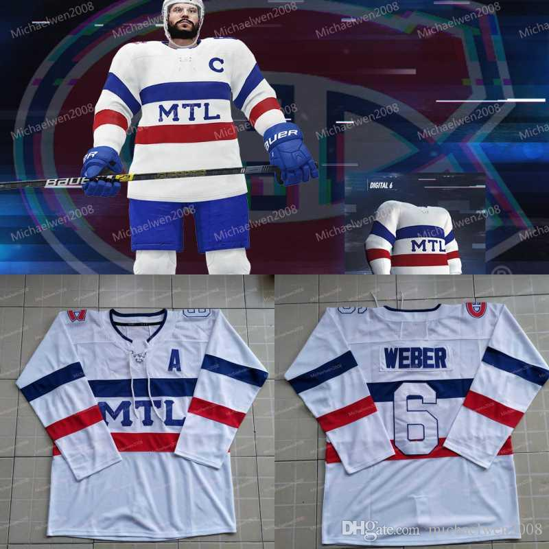 online retailer 4b442 a5ad2 Digital 6 Six Jersey Montreal Canadiens Jersey 6 Shea Weber 13 Max Domi 11  Brendan Gallagher 26 Jeff Petry 31 Carey Price Hockey Jerseys