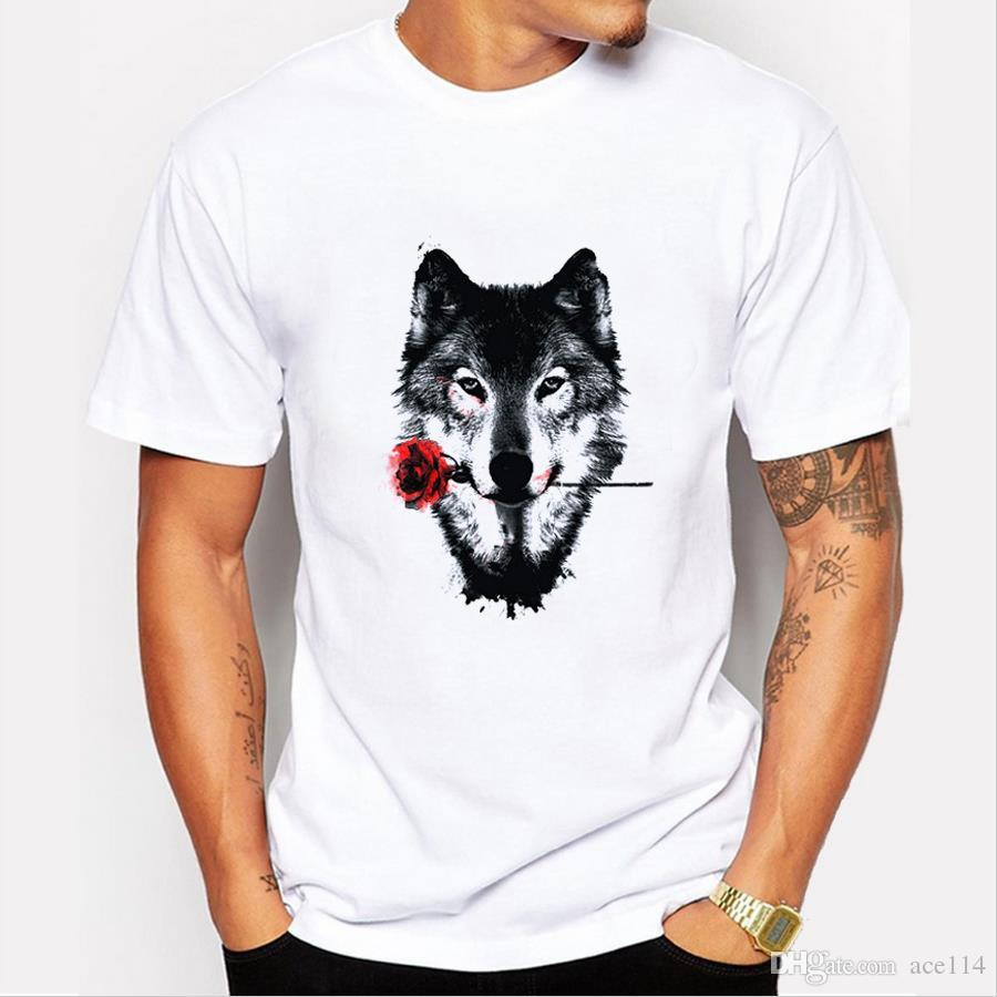 New hot sell fashion men's short sleeve black rose Printed t-shirt Man O-neck cool tops free shipping