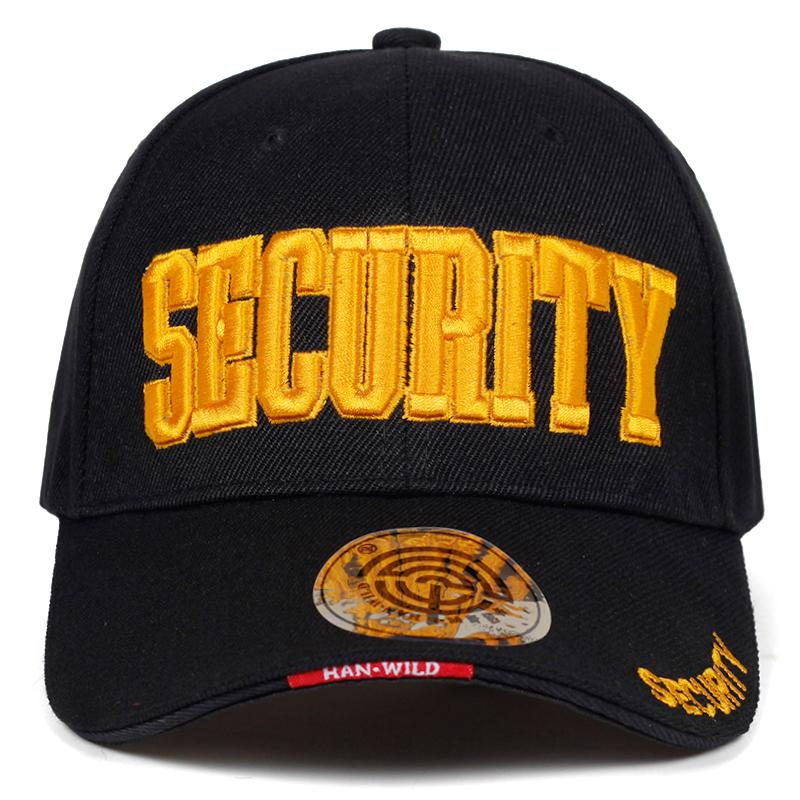 f1fcdf34634e29 2019 New SECURITY Embroidery Baseball Cap Hip Hop Snapback Caps Outdoor  Street Cool Fashion Hat Adjustable Cotton Daddy Caps Snapback Caps Fitted  Hats From ...