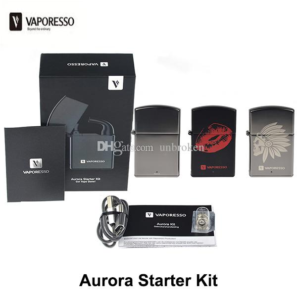 100% Original Vaporesso Aurora Starter Kit Built-in 800mAh Battery Vape Box  Mod With 1 2ml Tank No Button Design Portable Vape Kit