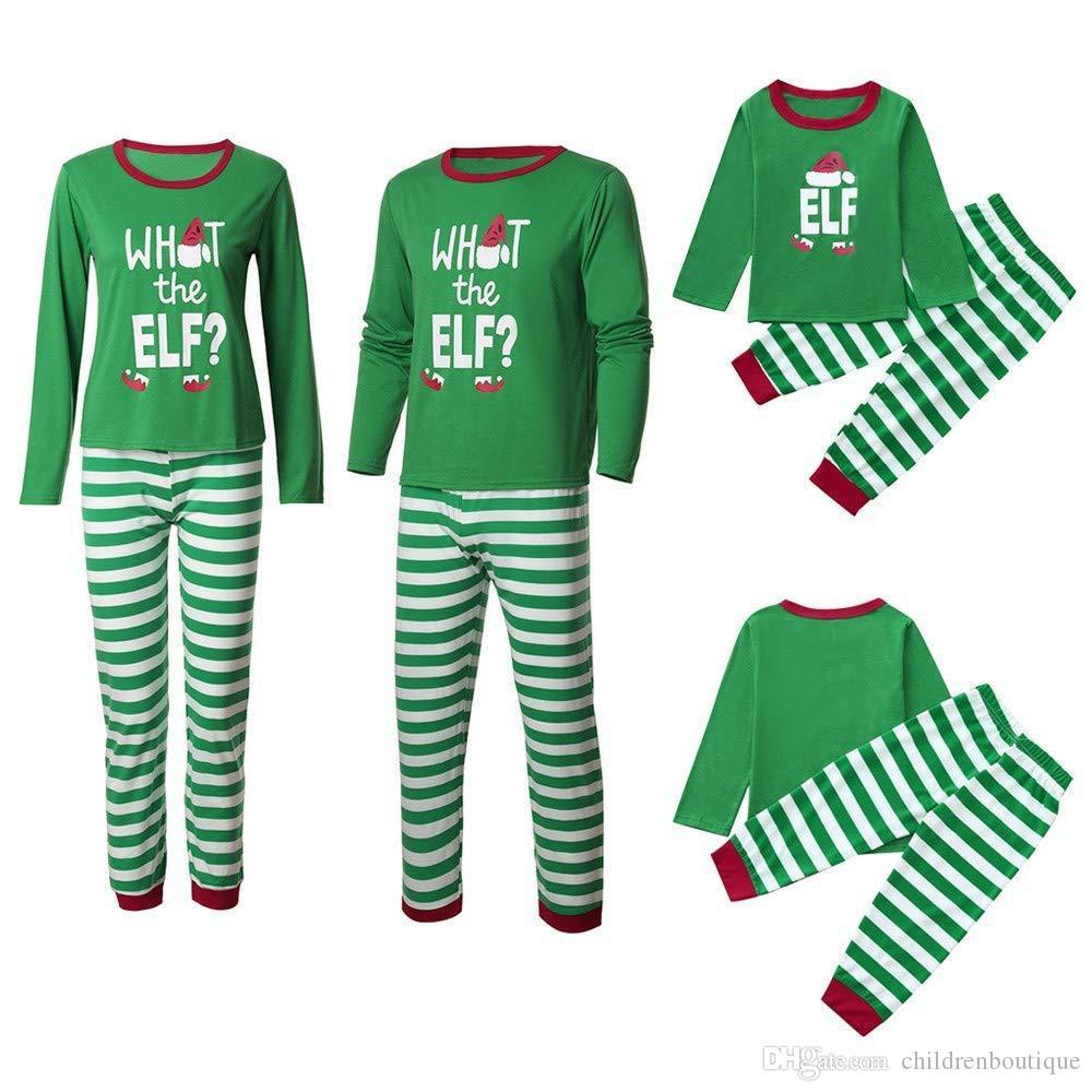 Matching Family Clothing Sets 2019 New Year Christmas Pajamas Family  Matching Outfits Mother Daughter Father Son Family Sleepwear Nighty Male  And Female ... d9d0e3742