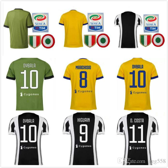 60940181a43 Thai Quality 17 18 Italy Club Soccer Jersey 2017 2018 Buffon ...