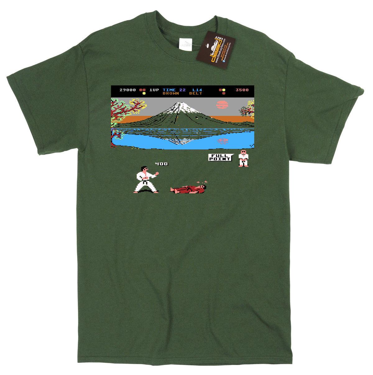 International Karate inspired Game T-shirt - Commodore 64 Spectrum Gaming  C64 Funny free shipping Tshirt top