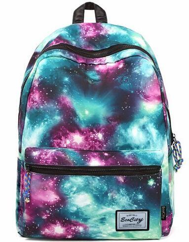 EcoCity Printing Backpack Starry Sky School Bags For Girls Women School  Backpack School Bags For Teenagers Students Rucksack Hiking Backpack Swiss  Gear ... fe36439b3436b