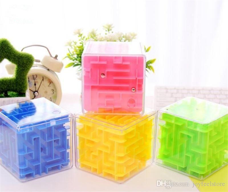 8Cm New 3D Cube Puzzle Maze Toy Hand Game Case Box Fun Brain Game Challenge  Fidget Toys Balance Intelligence Educational Toys