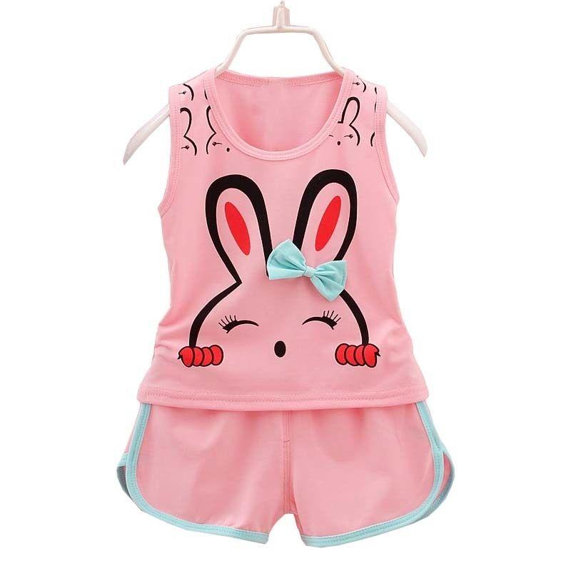 f585fd5872ba 2019 BibiCola Summer Baby Girls Sport Suit Little Girls Clothing Set ...