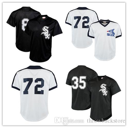 b0a55a671 Men s Chicago Carlton Fisk White Bo Jackson Sox Frank Thomas Mitchell    Ness White Cooperstown Mesh Batting Practice Jersey
