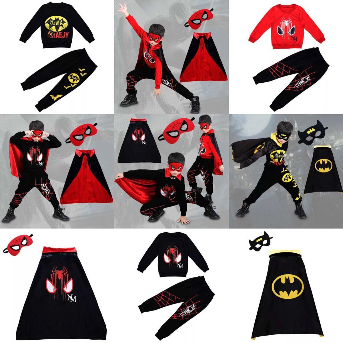 Compre Disfraz De Halloween Spider Man Batman Disfraz De Dibujos Animados  Cool Baby Boys Con Capucha + Pantalones Boy Sport Ropa Trajes Ropa De Niños  Set ... 6186ac8ed2db9