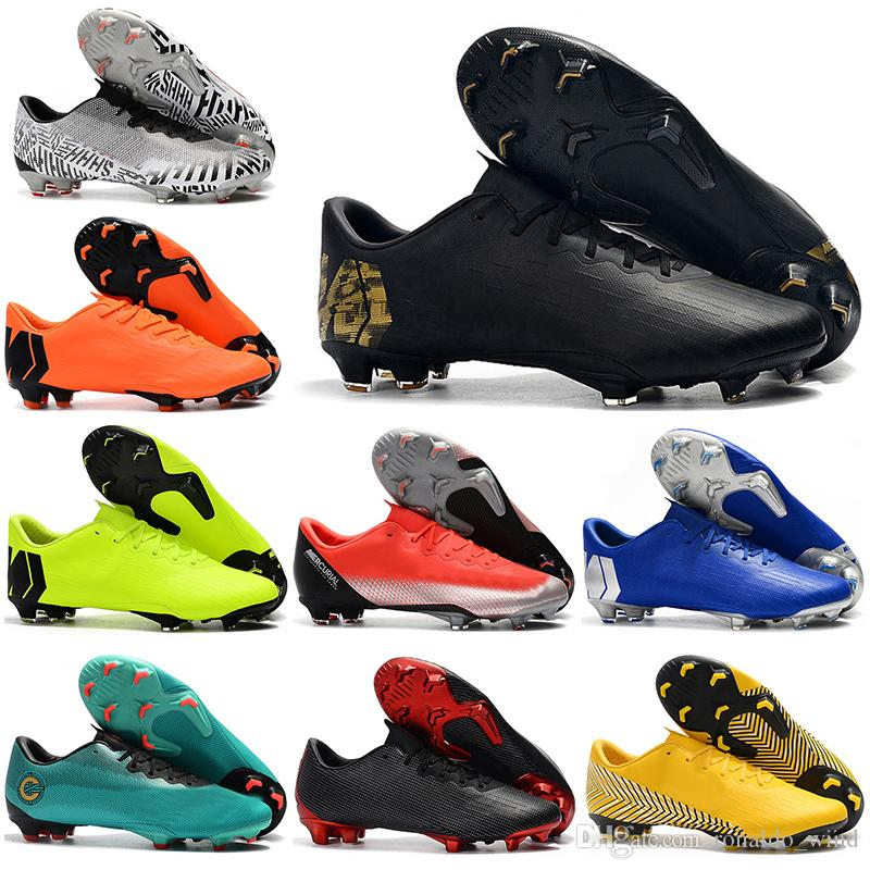 8306ec2d8b6 Mens Low Ankle Football Boots Cristiano Ronaldo CR7 Mercurial Vapors XII PRO  FG Soccer Shoes Superfly Neymar ACC Original Soccer Cleats Casual Shoes  Casual ...