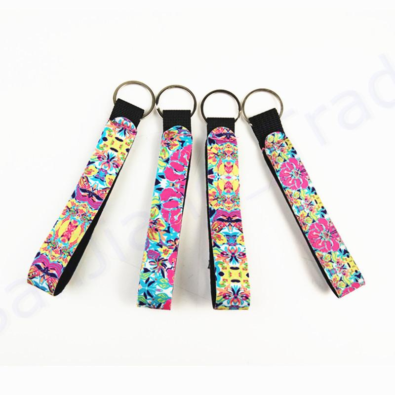 2019 Valentine'S Day Gifts Lilly Pulitzer Key Chain Neoprene Bag Charmer Keychain Sublimation Keyring Wedding Favors Gift Novelty Games From Sanjiang_wares, ...