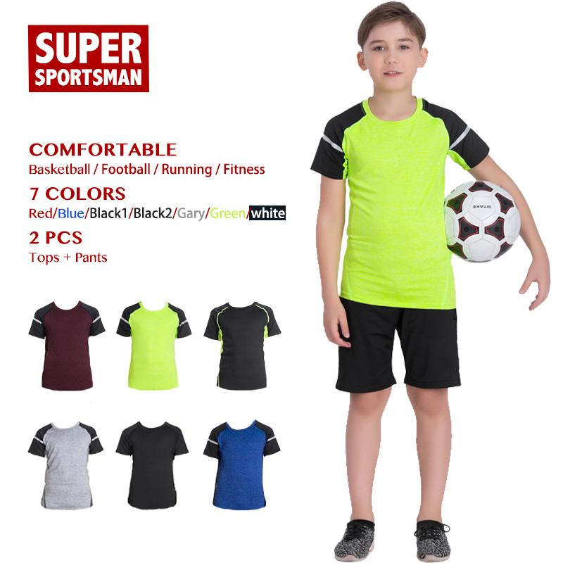 Kinder Sommer Trainingsanzug Jogging Sport Anzüge Kinder Training Gym Kleidung Männer Jungen Fitness Sportbekleidung Laufhose Sets Strumpfhosen