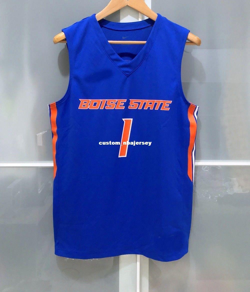 2019 Cheap Custom Boise State Broncos 1 Ncaa Basketball Jersey Blue