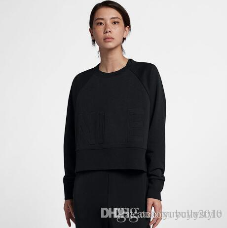 3e662bf7581 2018 New Brand Designer Women Clothes NIK- Womens Hoodies Black ...