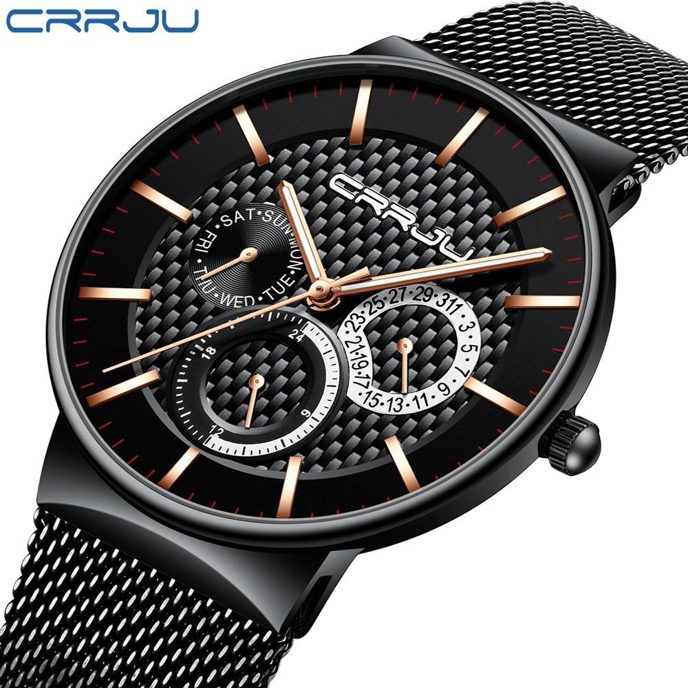 d2d2a97ccbb6 Compre Relojes De Los Hombres CRRJU Lujo Famosa Marca De Moda De Los  Hombres Vestido Ocasional Reloj De Pulsera De Cuarzo Relogio Masculino Saat  A  283.96 ...