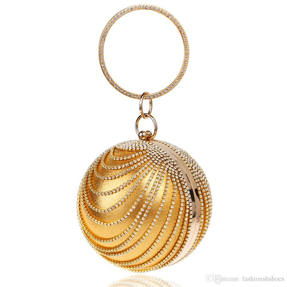 27d4b1bbd3 Woman Round Ball Clutch Handbag Rhinestone Ring Handle Purse Evening  BagGold #227073 Red Handbags Ivanka Trump Handbags From Fashionshshoes,  $47.7| DHgate.