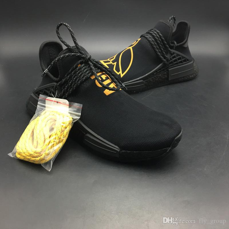 official photos a272f d558f OVO x Originals Hu Human Race Black Cool The Owl Design Designer Running  Shoes Fashion Designer Trainer Sport Sneaker High Quality